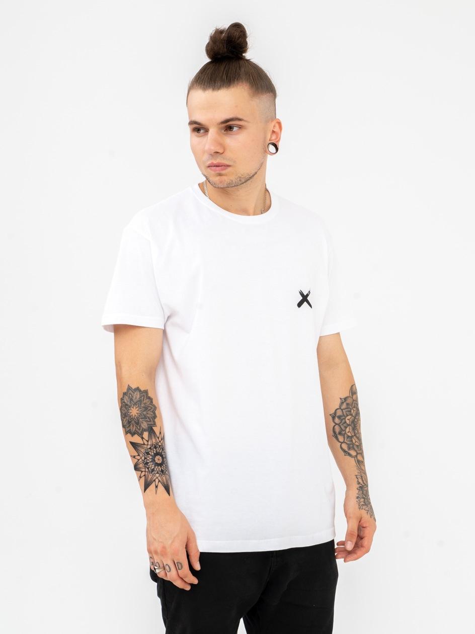 Koszulka Z Krótkim Rękawem Point X Mini X Biała