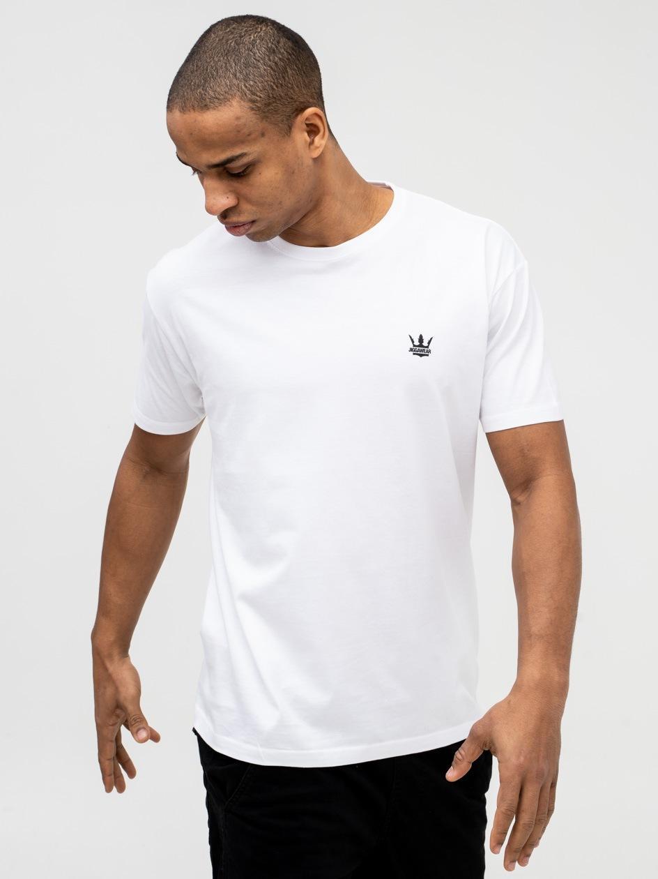 Koszulka Z Krótkim Rękawem Jigga Wear Mini Crown Biała