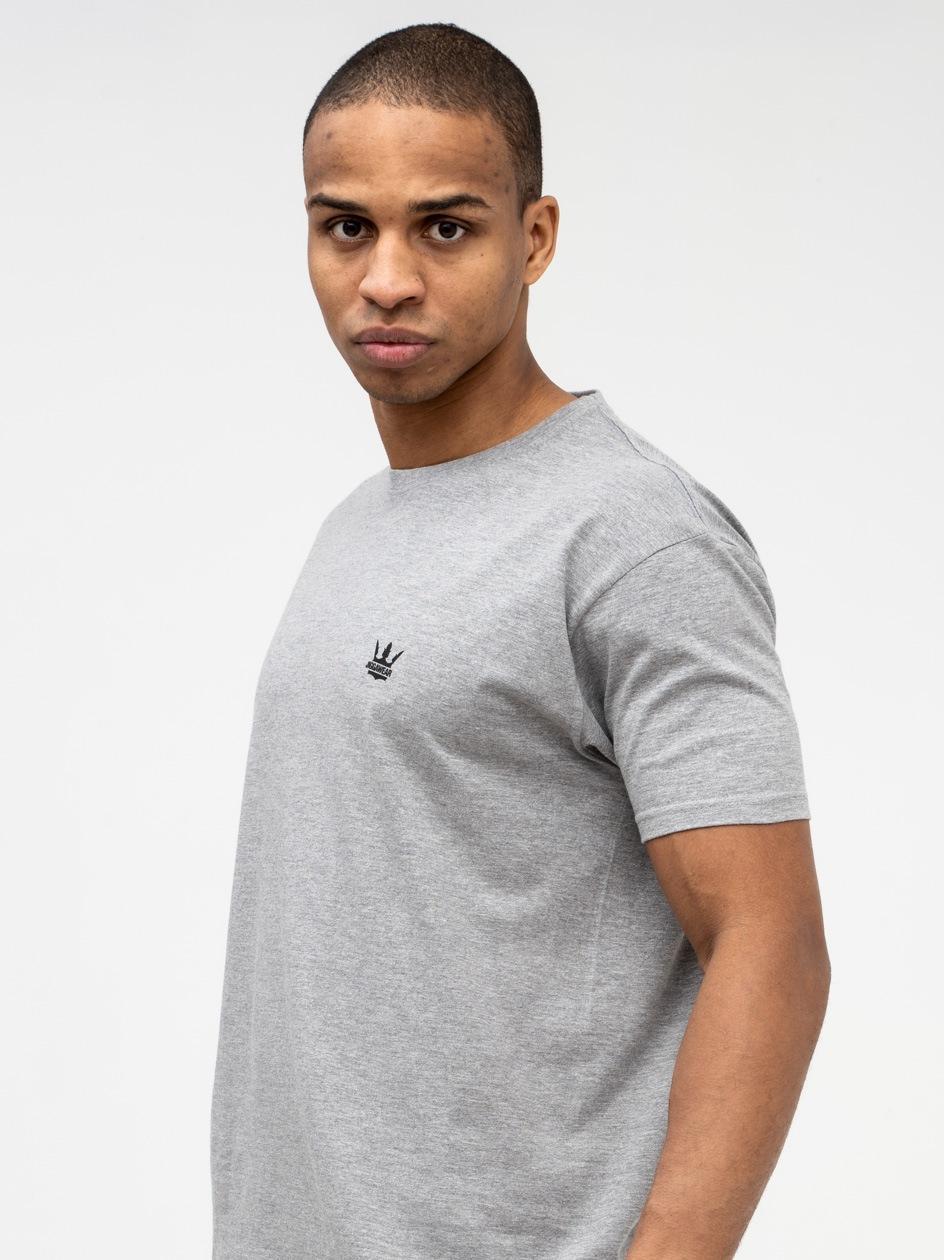 Koszulka Z Krótkim Rękawem Jigga Wear Mini Crown Szara