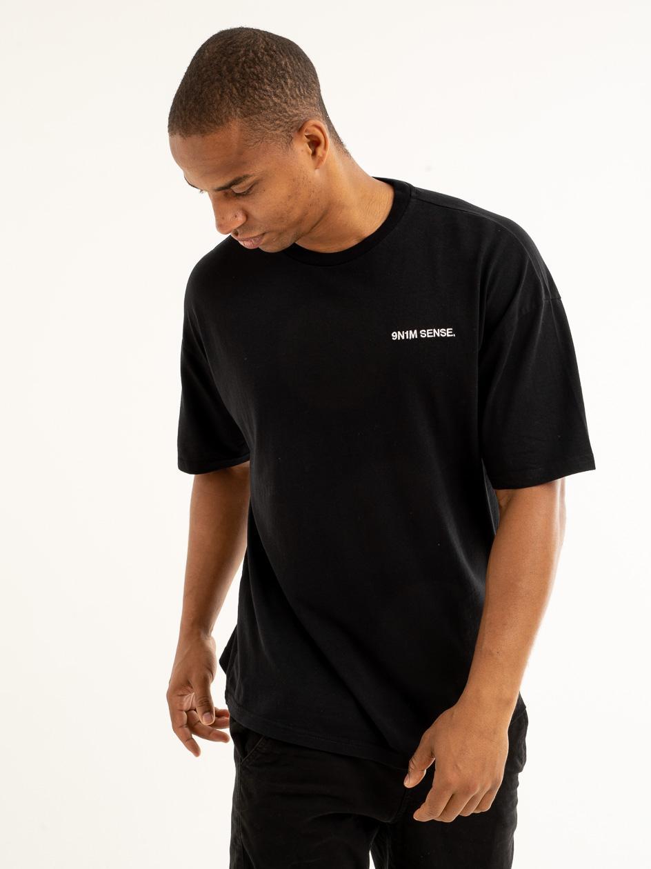 Koszulka Z Krótkim Rękawem 9N1M Sense. Logo Czarna