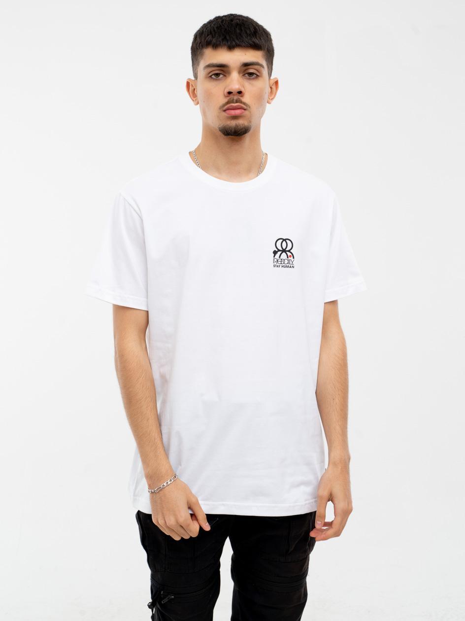 Koszulka Z Krótkim Rękawem Iriedaily Stay Human Biała