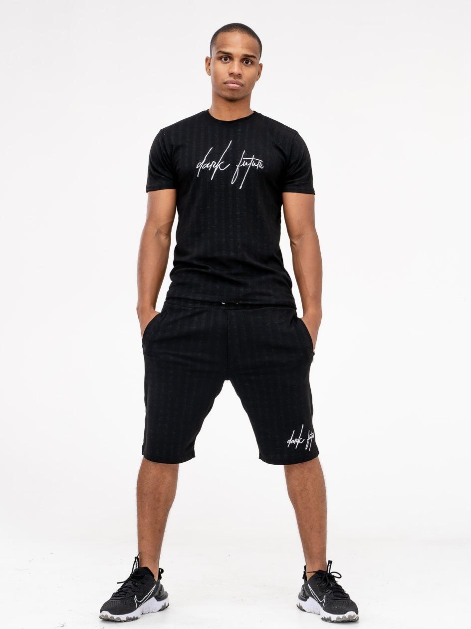 Zestaw Krótkie Spodenki I T-Shirt Urban Selection Dark Future Czarny