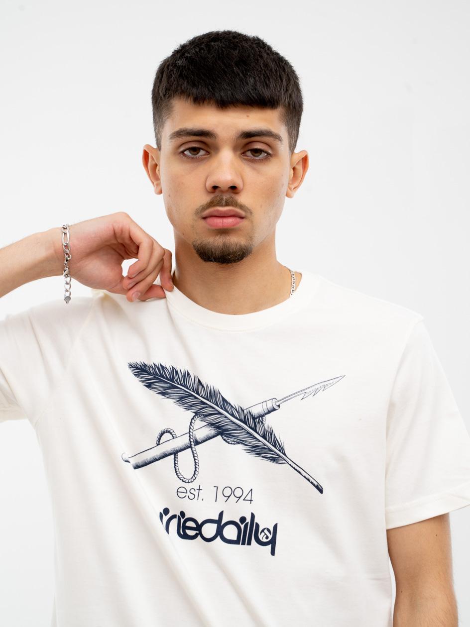 Koszulka Z Krótkim Rękawem Iriedaily Harpoon Flag Biała