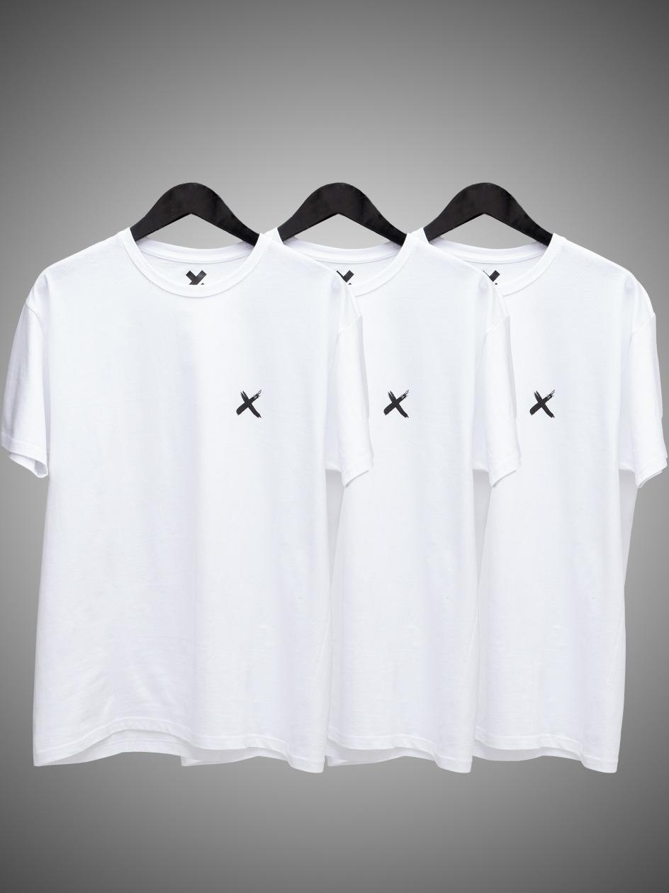 Zestaw 3 T-Shirtów Point X Mini X Biały