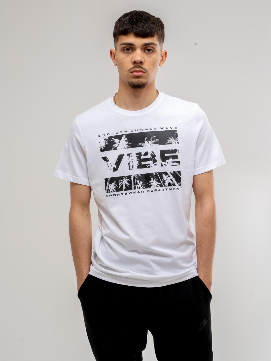 Koszulka Z Krótkim Rękawem 4F Summer Vibes Biała