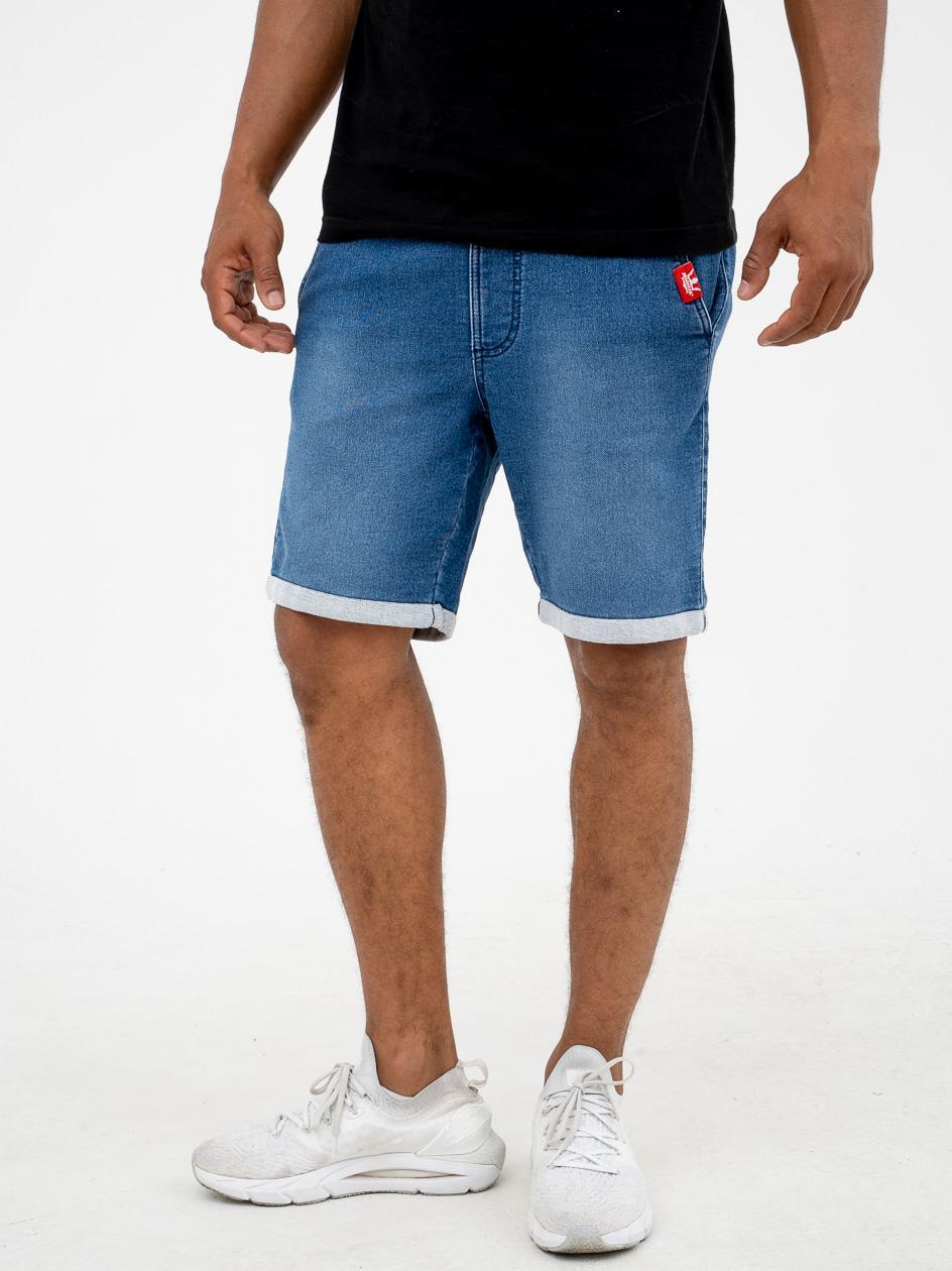 Krótkie Spodenki Jeansowe Chino Jigga Wear Front Jaquard Niebieskie
