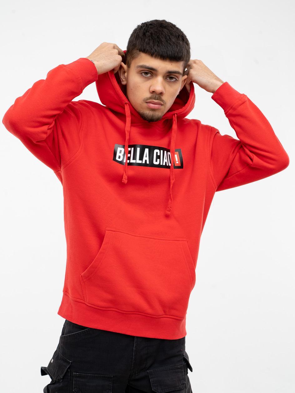 Bluza Z Kapturem My Stars Front Bella Ciao Czerwona