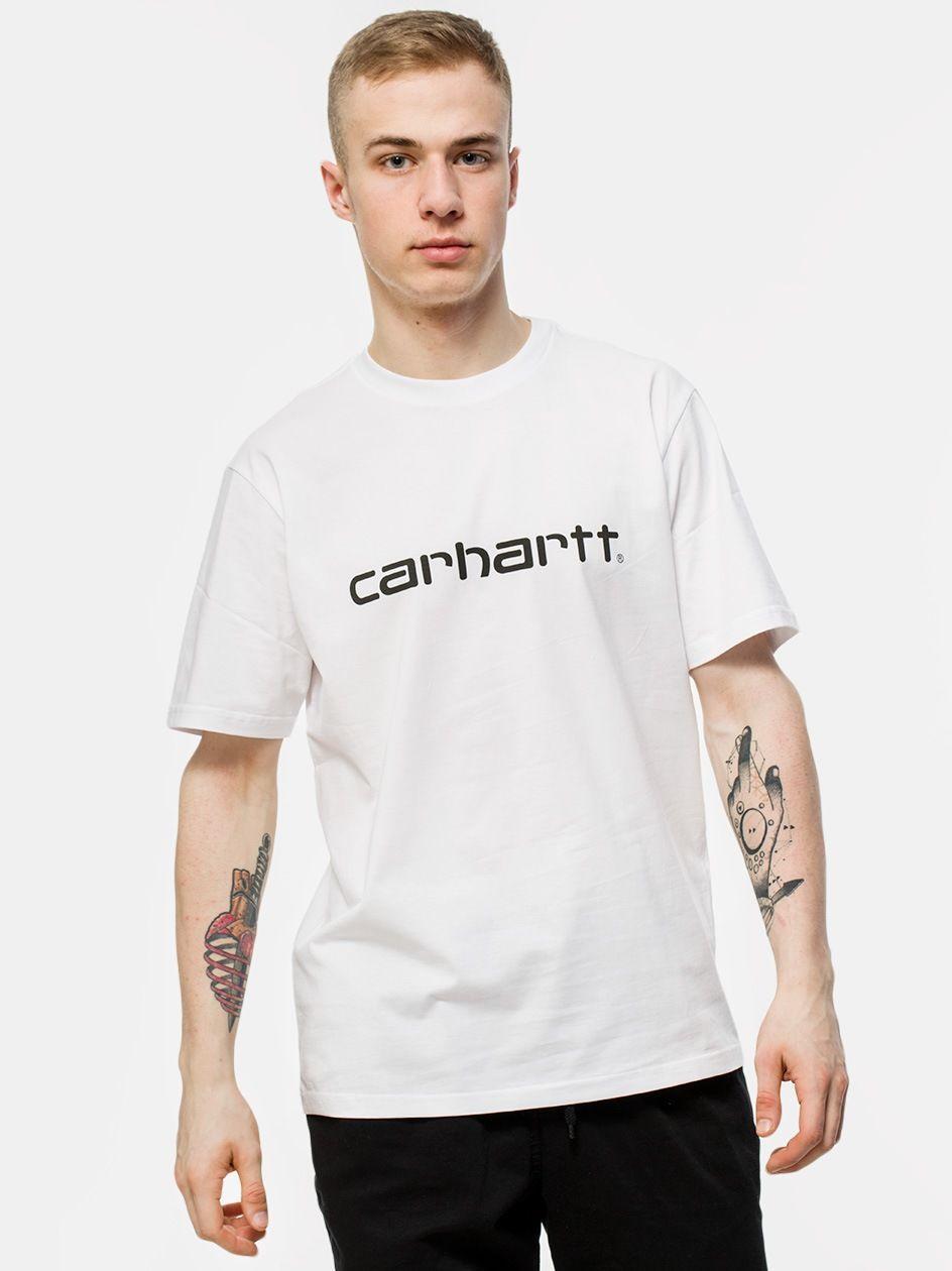 Koszulka Z Krótkim Rękawem Carhartt WIP Script Biała / Czarna