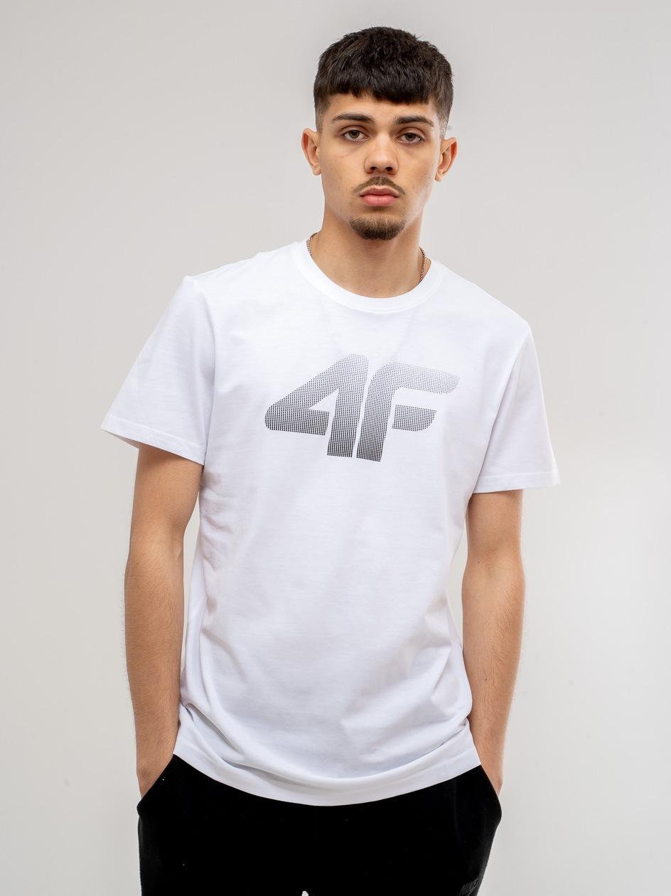 Koszulka Z Krótkim Rękawem 4F Blur Logo Biała