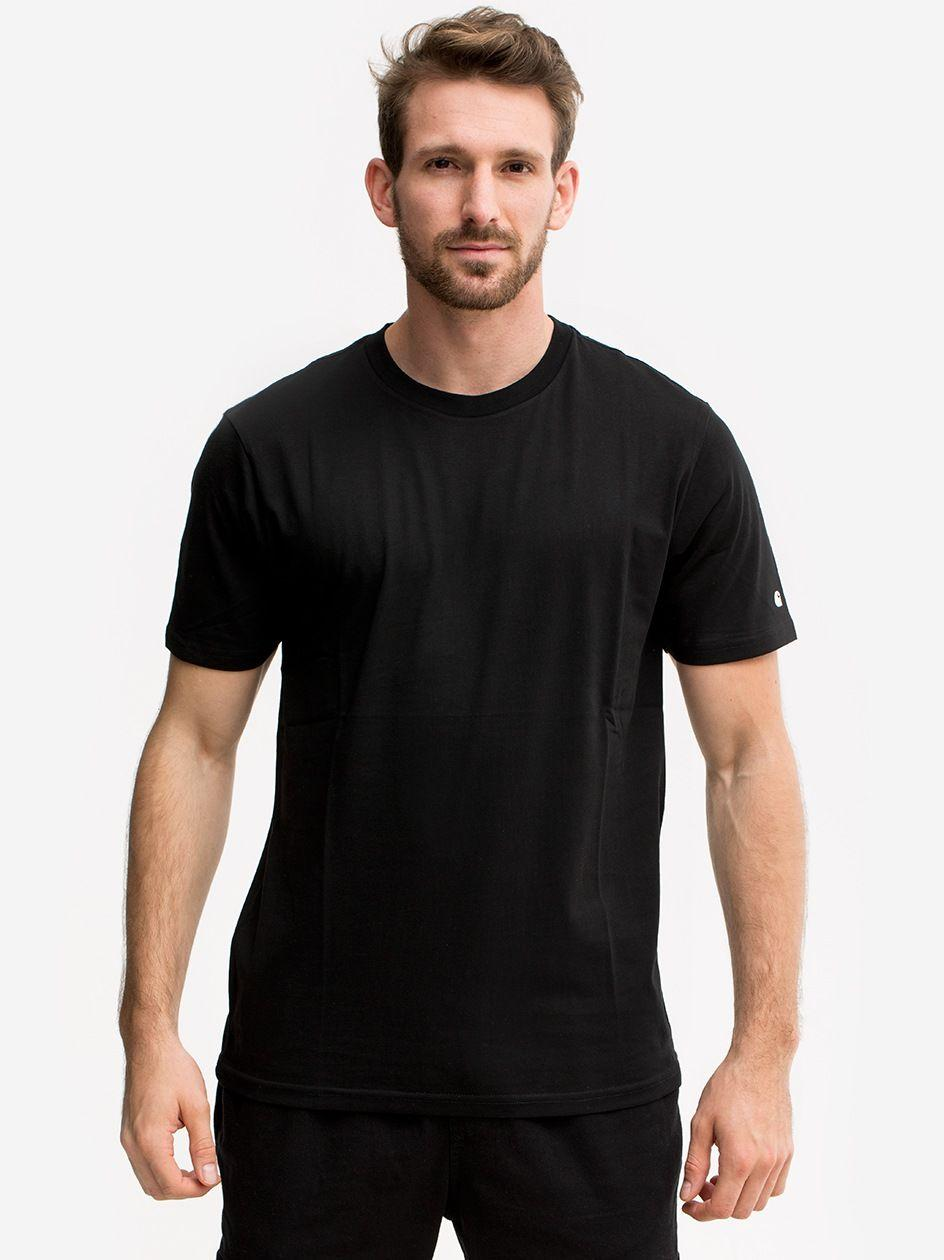 Koszulka Z Krótkim Rękawem Carhartt WIP Base Czarna / Biała