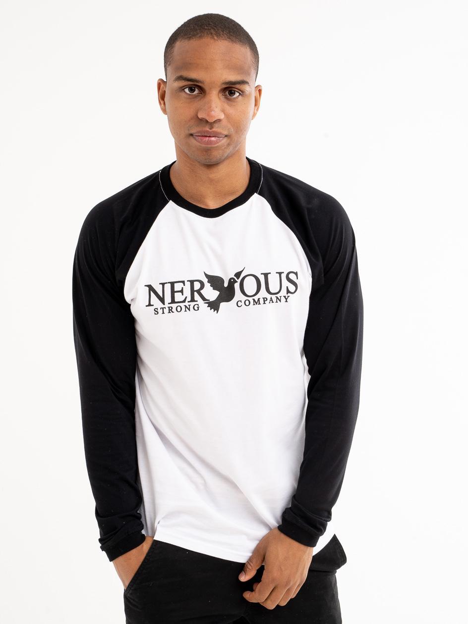 Koszulka Z Długim Rękawem Nervous Classic Biała / Czarna