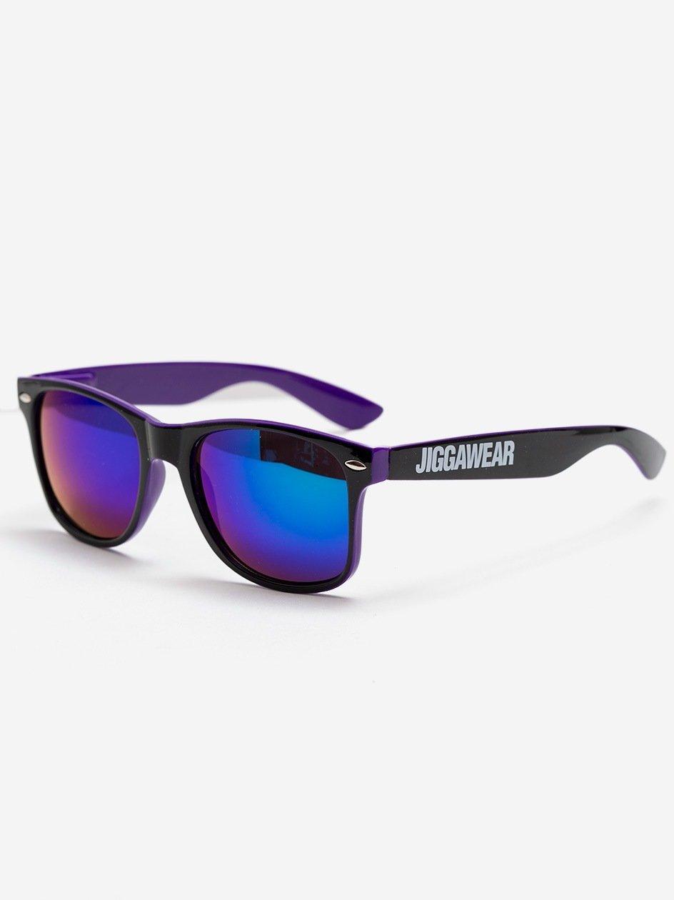 Name Contrast Wayfarer Black Purple Mirror