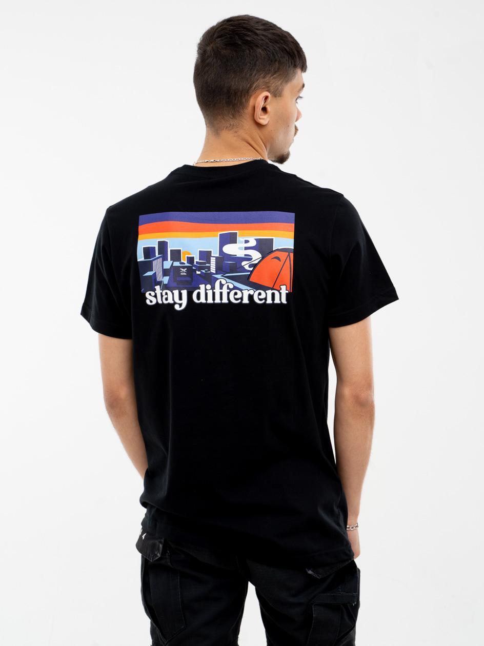 Koszulka Z Krótkim Rękawem Iriedaily City Camping Czarna