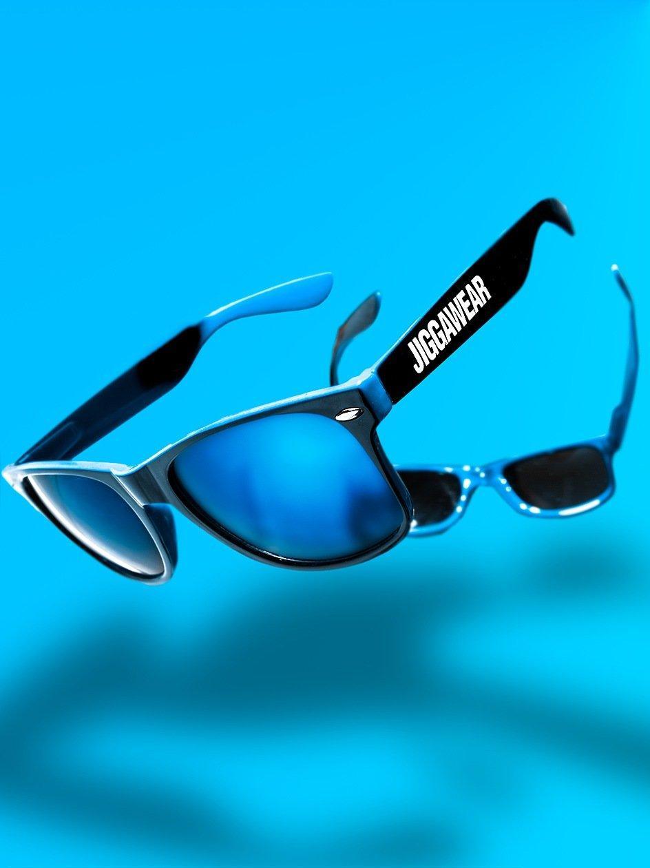Name Contrast Wayfarer Black Blue Mirror