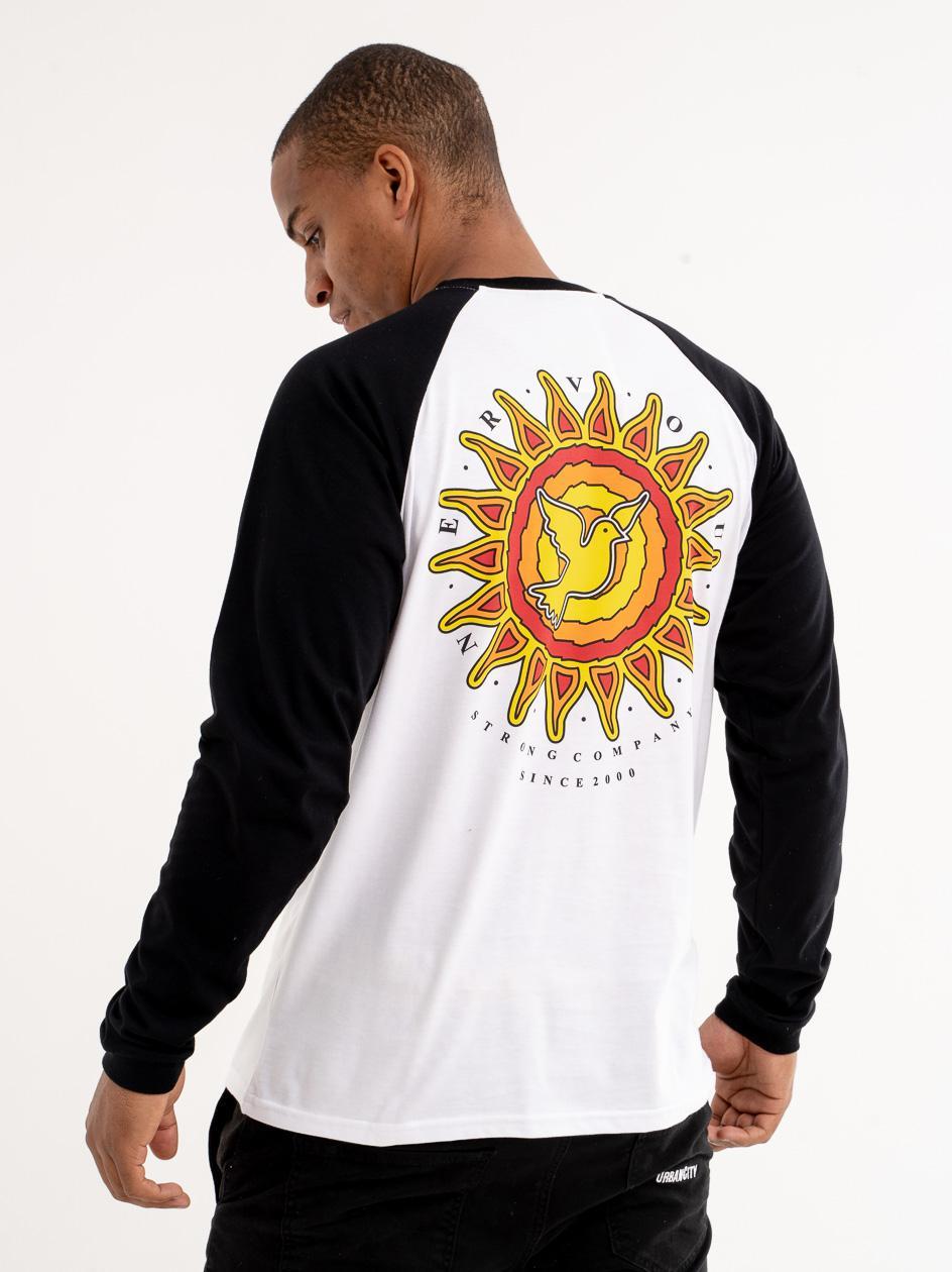 Koszulka Z Długim Rękawem Nervous Sun Biała / Czarna