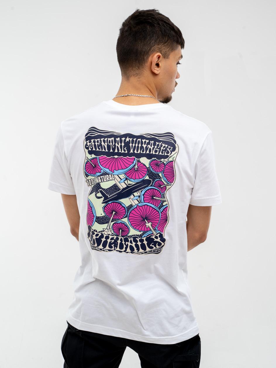 Koszulka Z Krótkim Rękawem Iriedaily Mental Voyages Biała