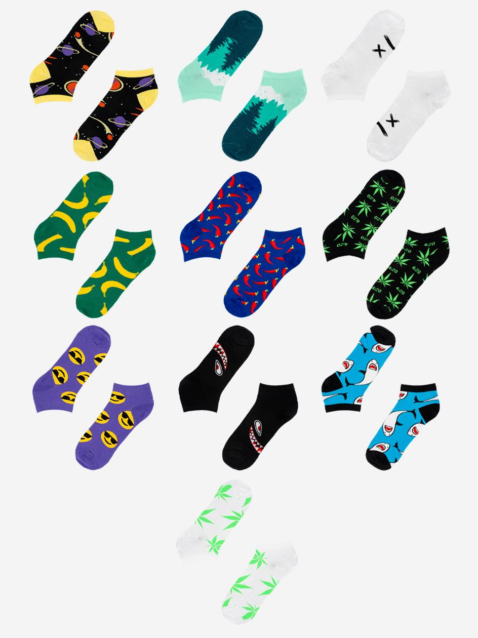 Zestaw 10 Par Skarpet Stopek MyStars x Blind Box Low Socks Mix 2