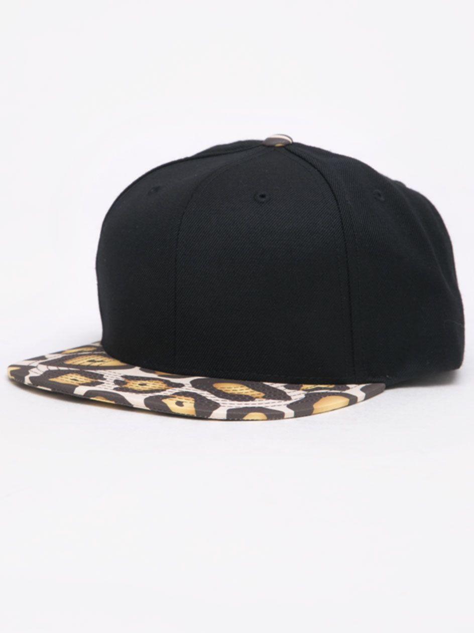 Classic Snapback 2-Tone Black Leopard Camo