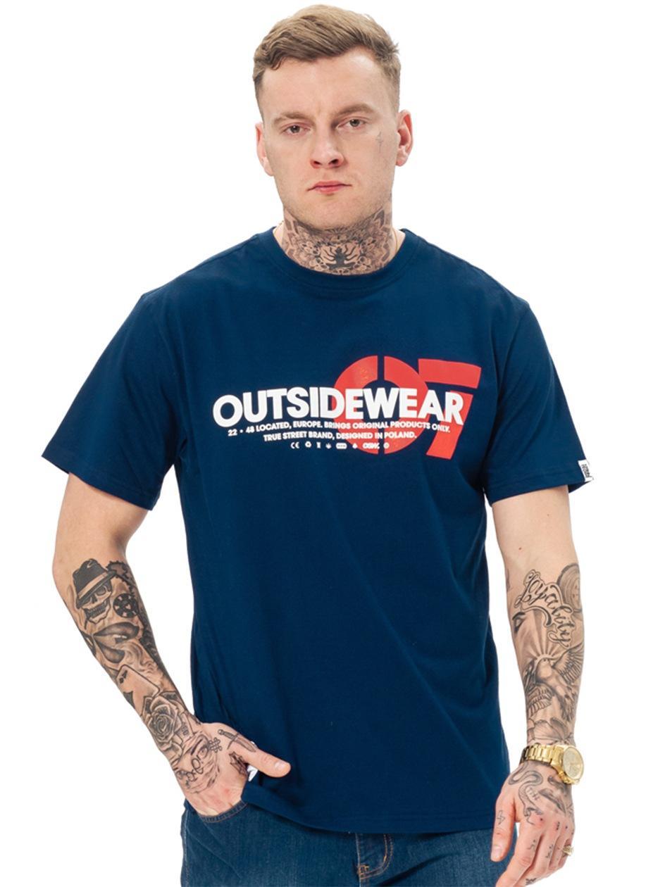 Koszulka Z Krótkim Rękawem Outsidewear 07 Granatowa