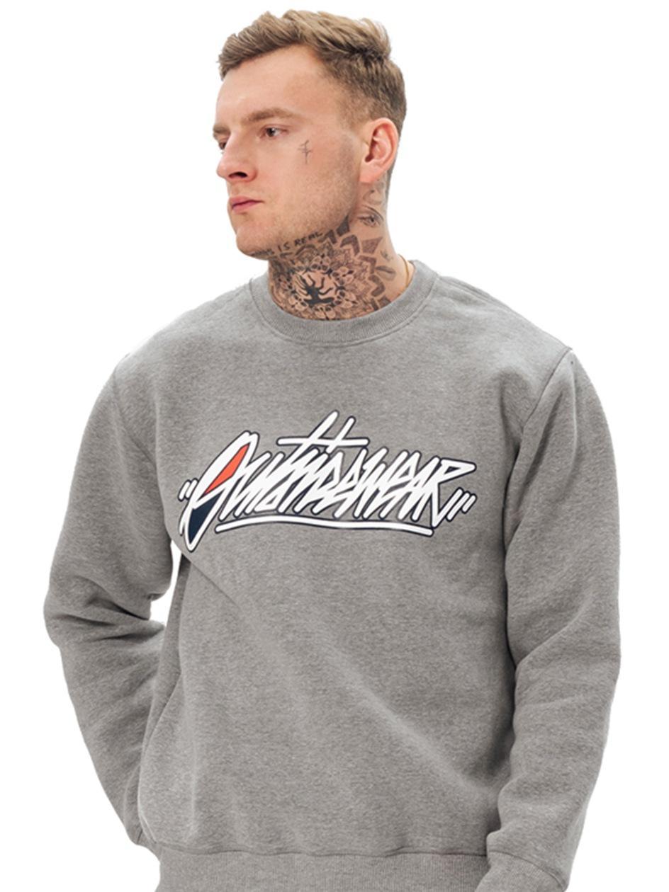 Bluza Bez Kaptura Outsidewear Tag Szara