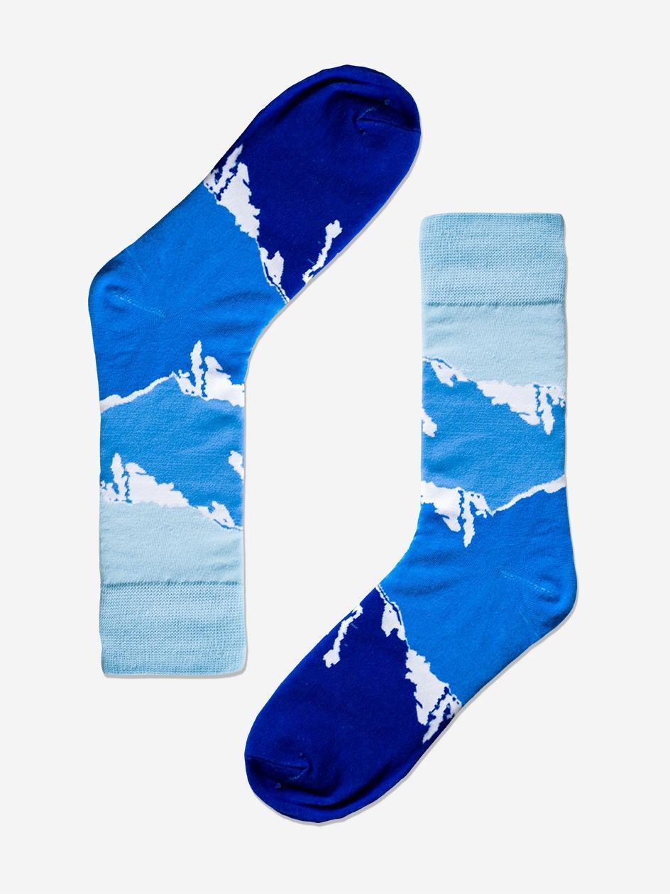 Długie Skarpety We Wzory MyStars x Blind Box Everest Niebieskie