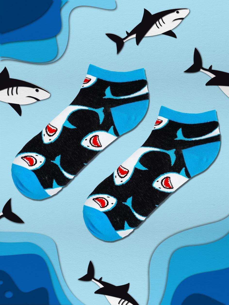 Skarpety Stopki We Wzory MyStars x Blind Box Sharks Czarne