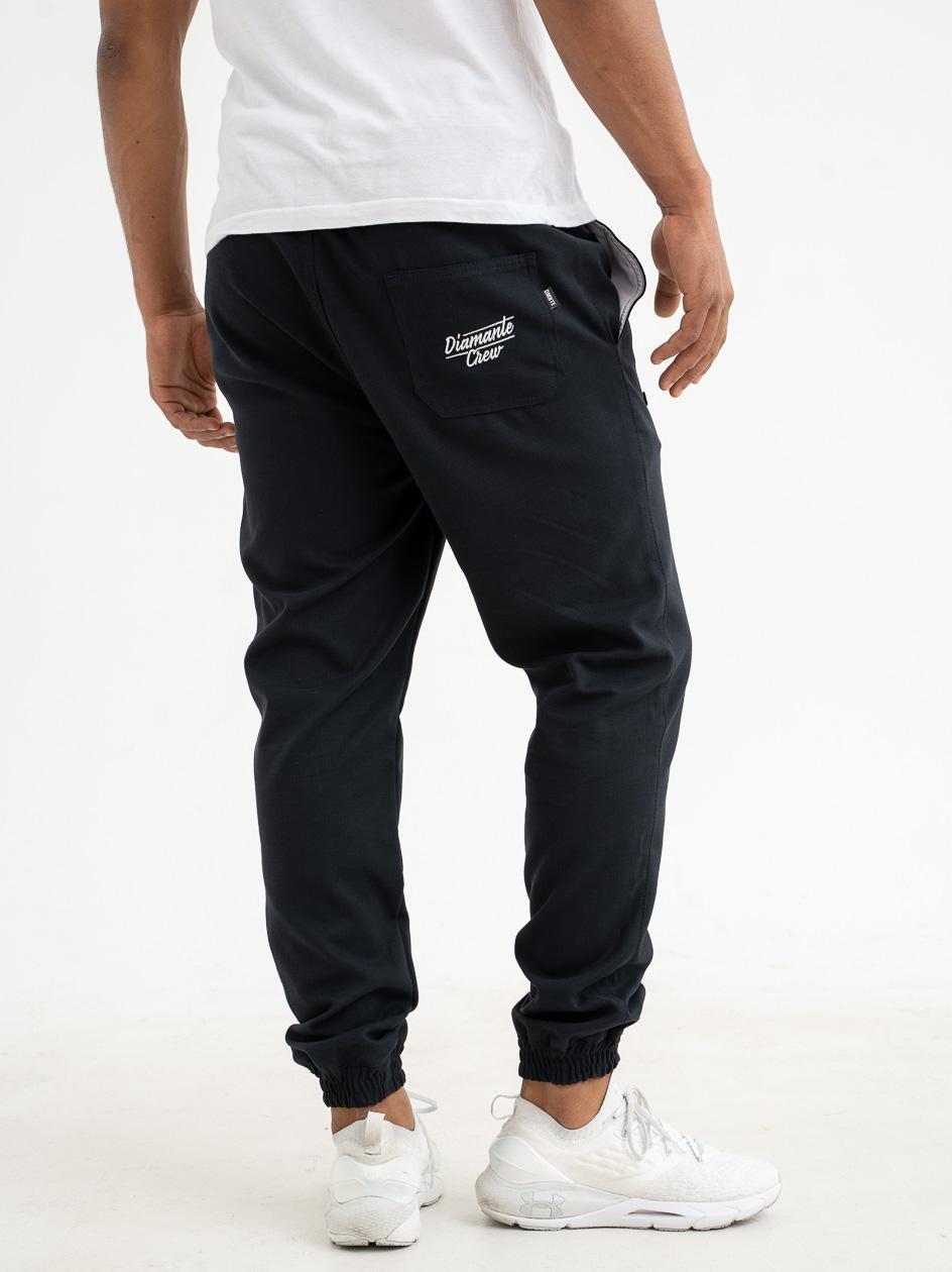 Spodnie Materiałowe Jogger Diamante Wear Crew Suit Czarne