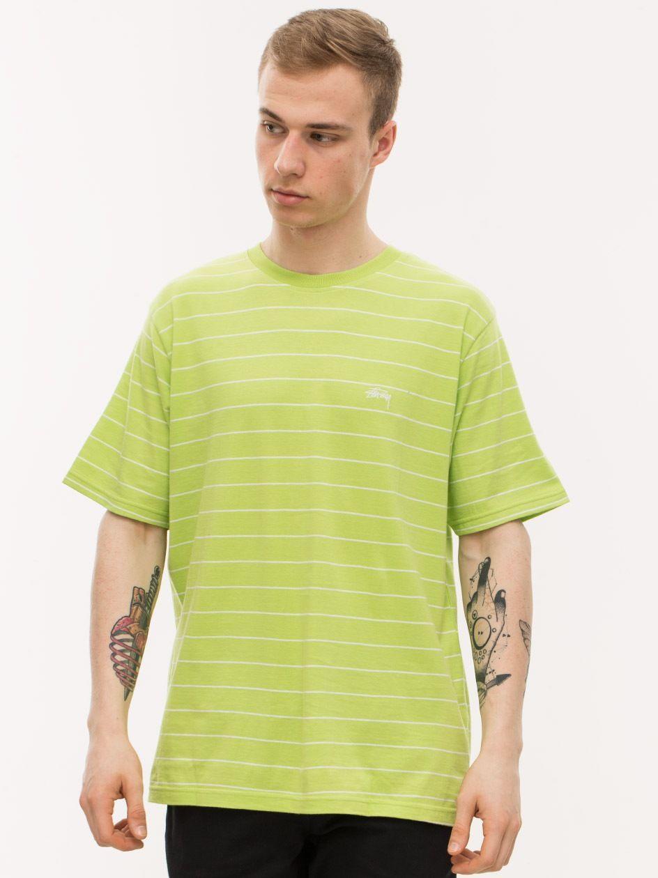 Mini Stripe Jersey Lime