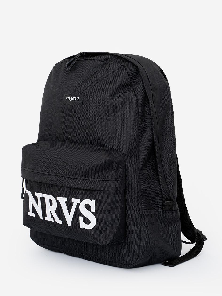 Plecak Nervous School Shortcut Czarny / Biały