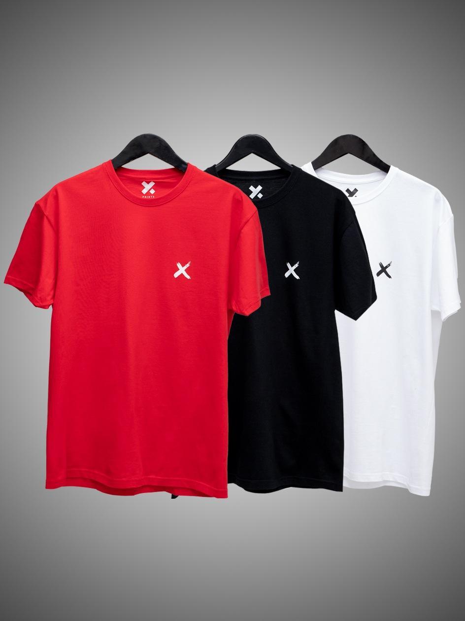 Zestaw 3 T-Shirtów Point X Mini X Czarny / Biały / Czerwony