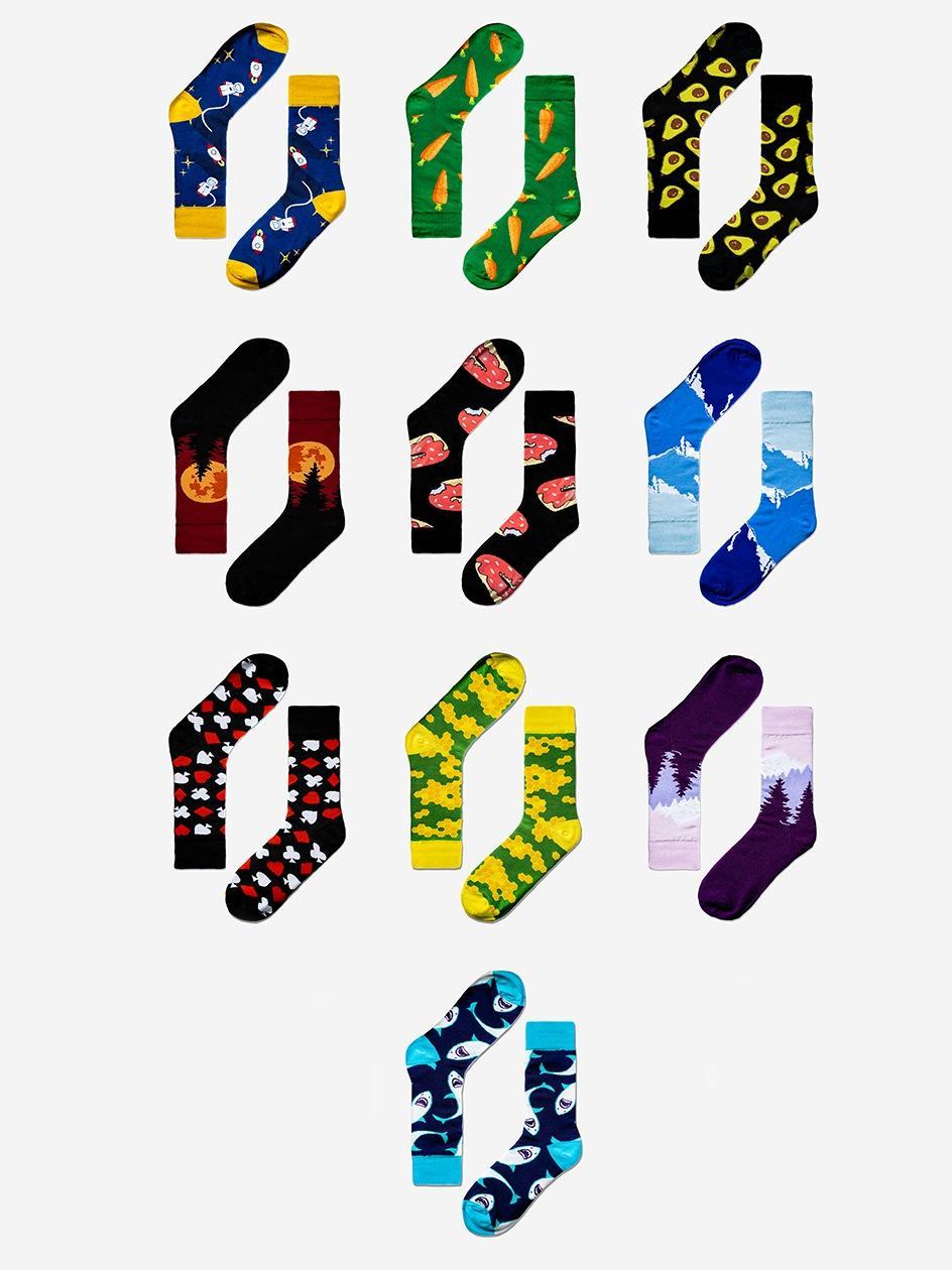 Zestaw 10 Par Skarpet MyStars x Blind Box Socks Set Mix 3 Wielokolorowe