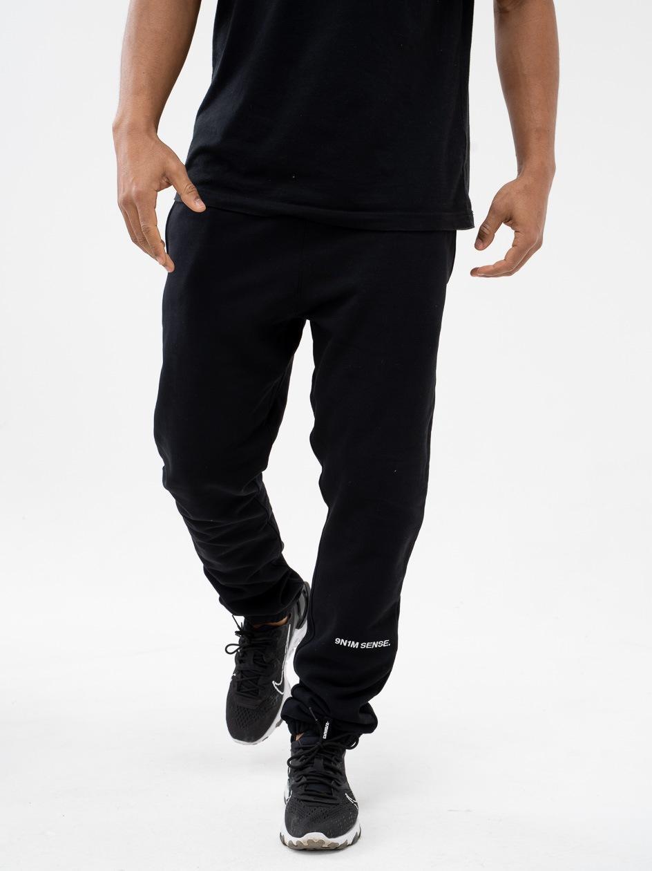 Spodnie Dresowe 9N1M Sense. Logo  Czarne