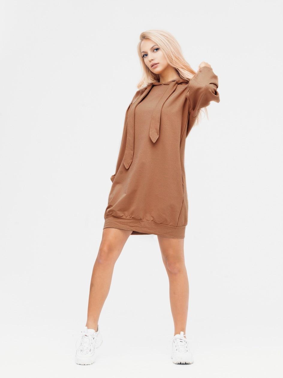 Sukienka Tunika Z Kapturem Point X Big Drawstring Brązowa