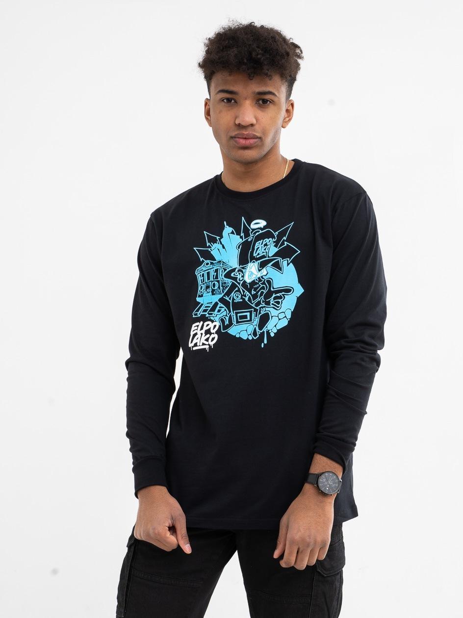 Koszulka Z Długim Rękawem El Polako Zbirus Czarna