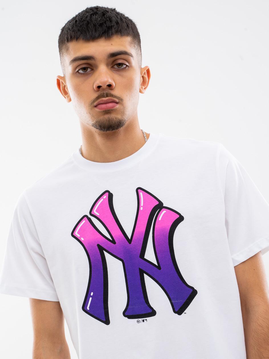 Koszulka Z Krótkim Rękawkiem 47 Brand New York Yankees Backer 47 Echo Biała copy