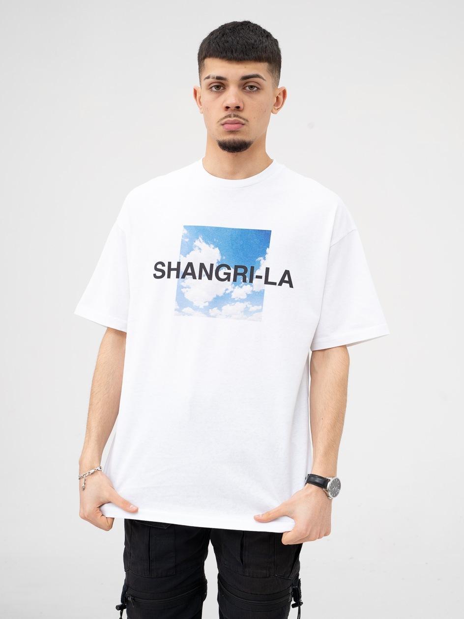 Koszulka Z Krótkim Rękawem 9N1M Sense. Shangri-la Biała
