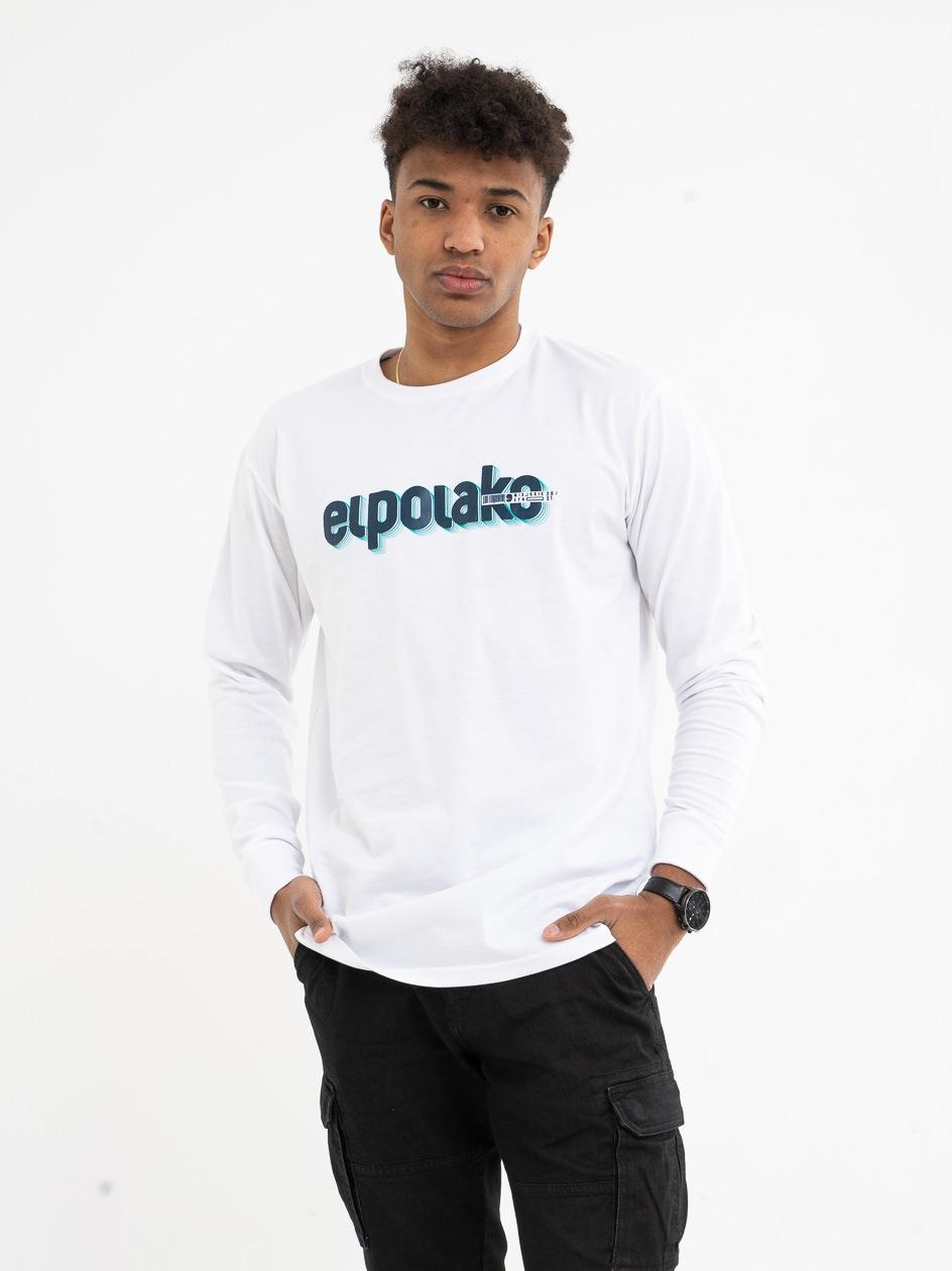 Koszulka Z Długim Rękawem El Polako 3D Line Biała