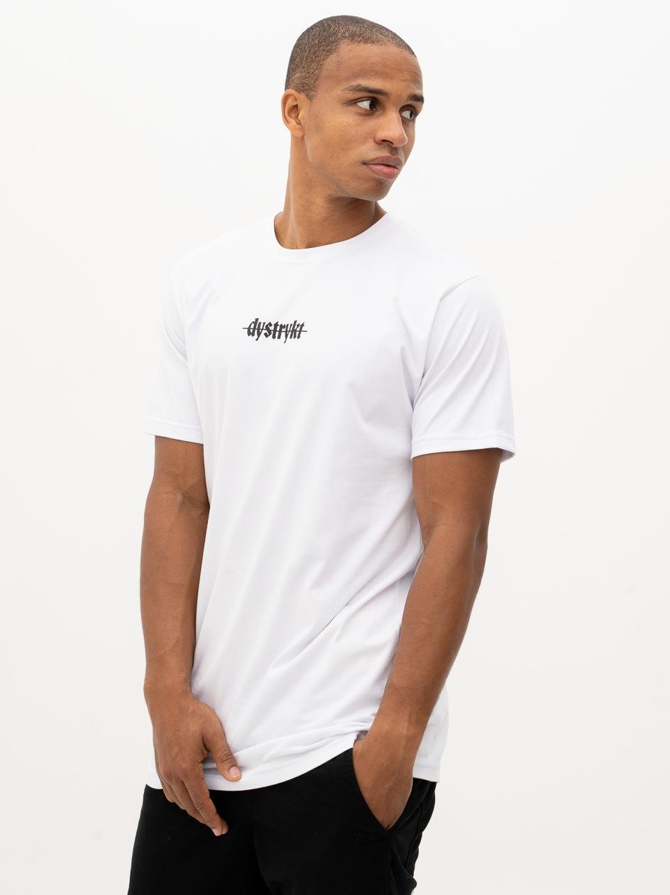 Koszulka Z Krótkim Rękawem Dystrykt Mini Script Biała