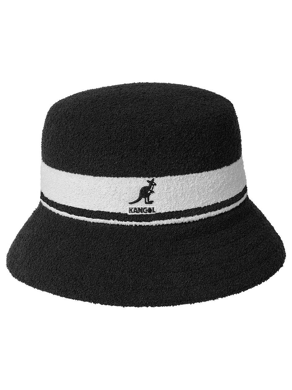 Kapelusz Bucket Hat Kangol Bermuda Stripe Czarny