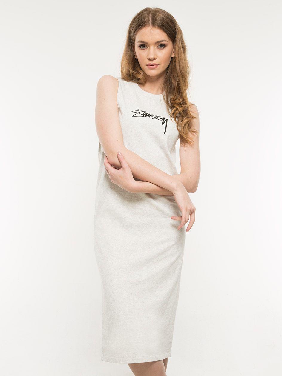 Ezra Muscle Dress White Heather