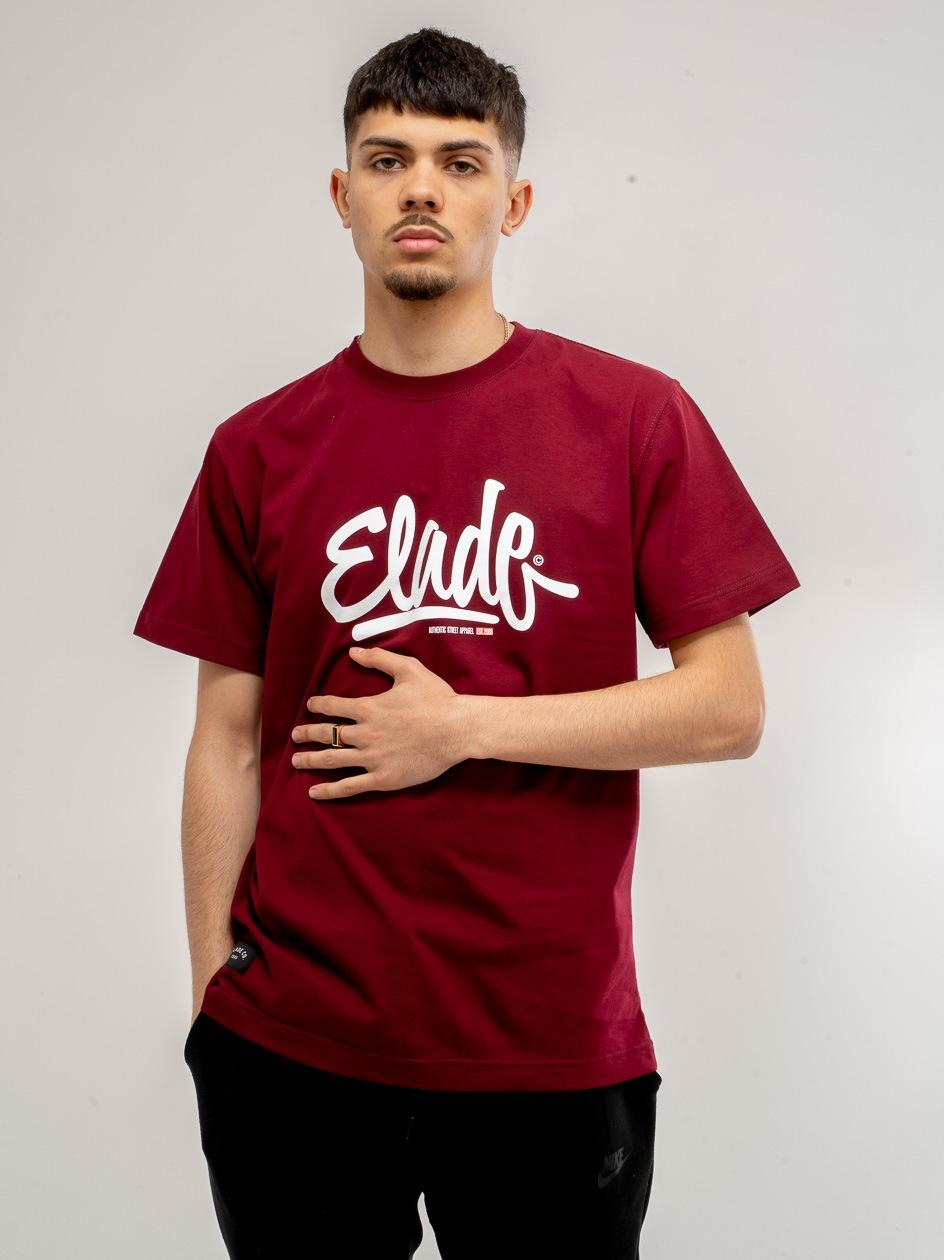 Koszulka Z Krótkim Rękawem Elade Clide Bordowa