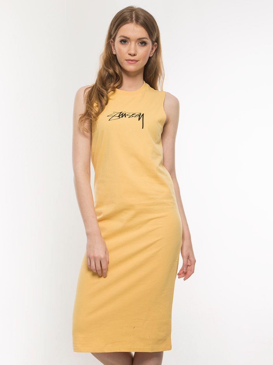 Ezra Muscle Dress Yellow