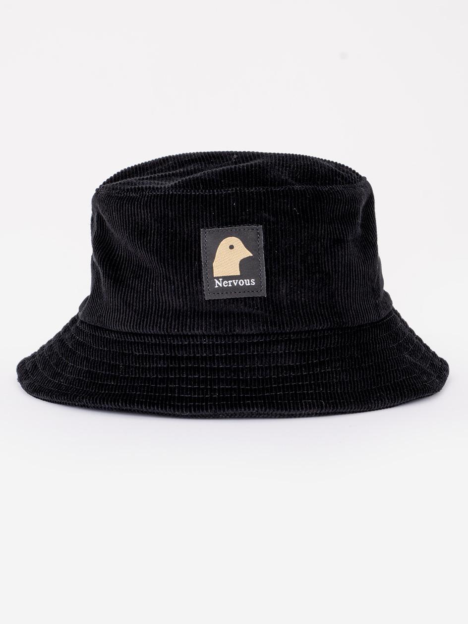 Kapelusz Bucket Hat Nervous Gold Head Czarny
