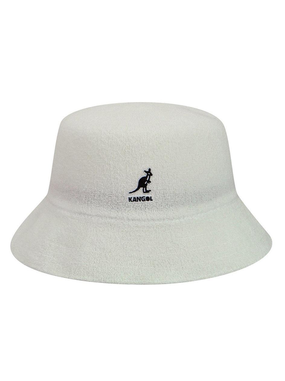 Kapelusz Bucket Hat Kangol Bermuda Biały