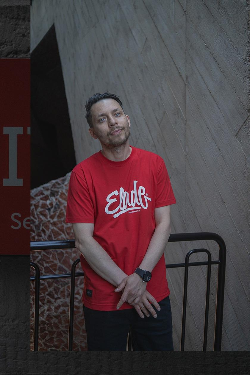 Koszulka Z Krótkim Rękawem Elade Clide Czerwona