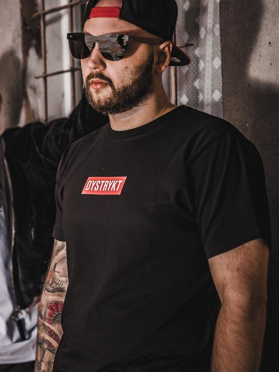 Koszulka Z Krótkim Rękawem Dystrykt Mini Box Logo Czarna