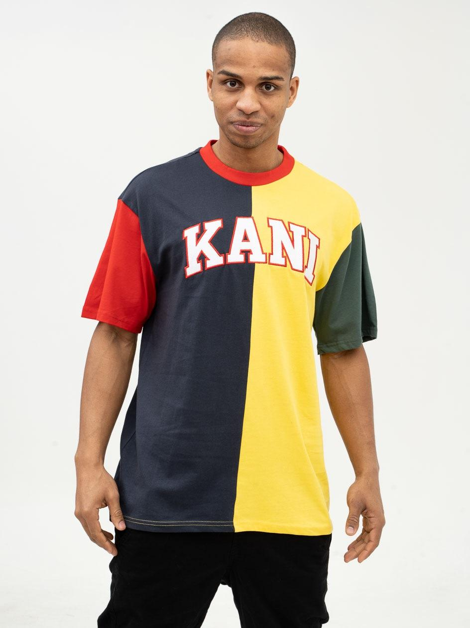 Koszulka Z Krótkim Rękawem Karl Kani College Block Czarna / Żółta