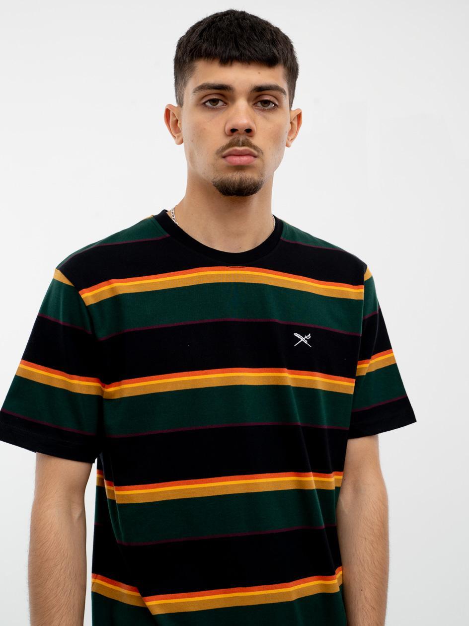 Koszulka Z Krótkim Rękawem Iriedaily Rustico Stripe Wielokolorowa
