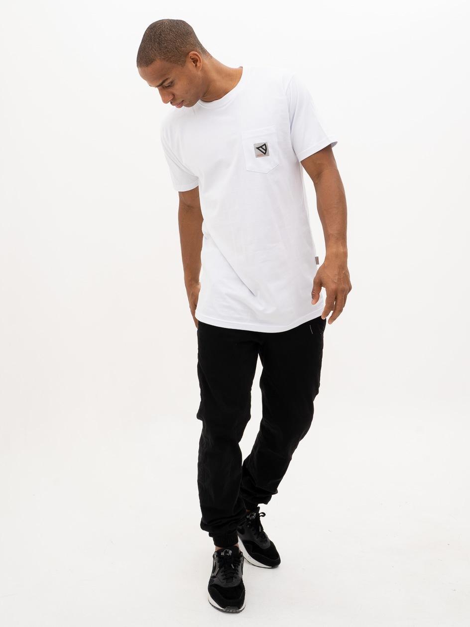 Koszulka Z Krótkim Rękawem Dystrykt Pocket Biała