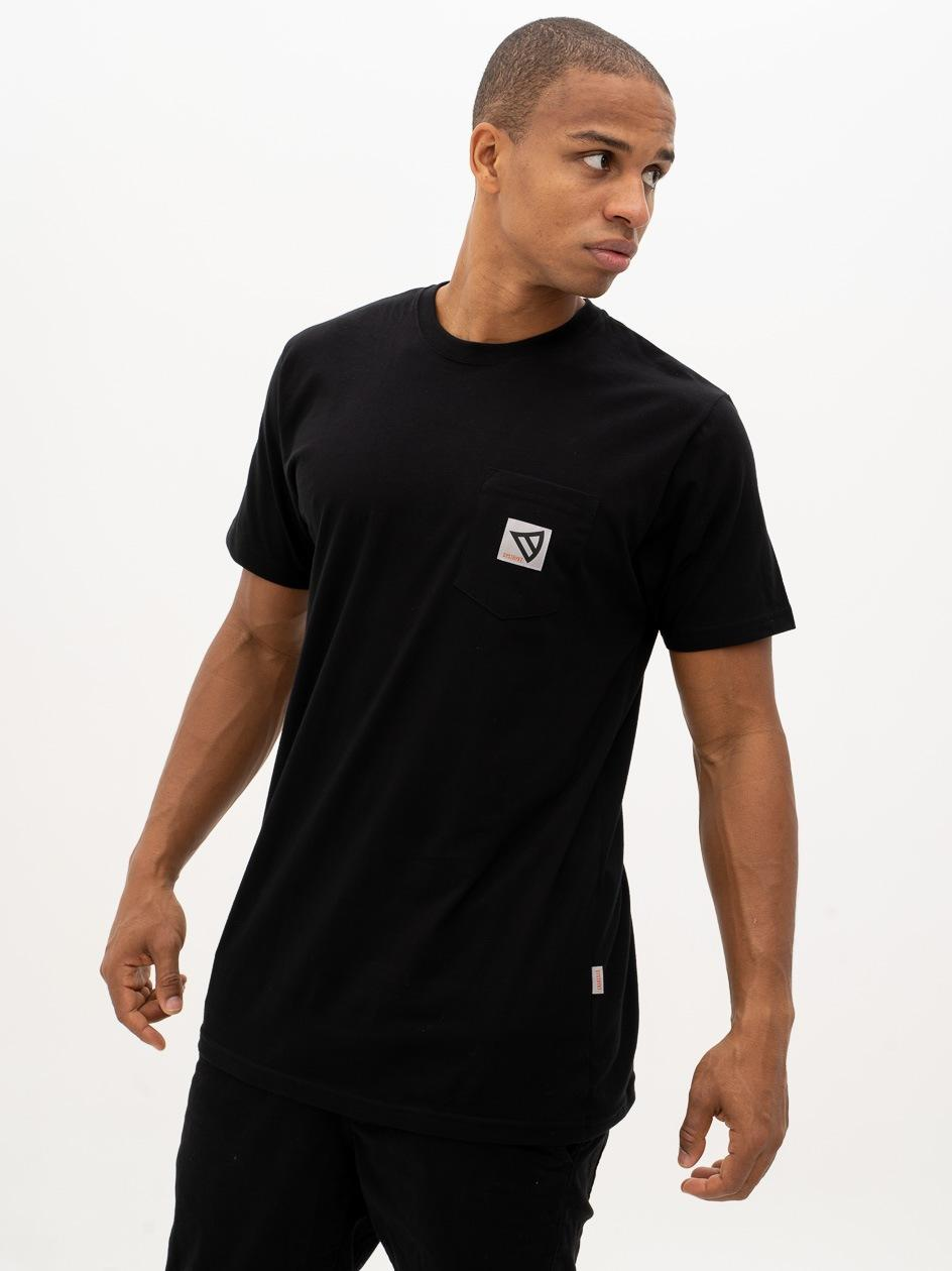 Koszulka Z Krótkim Rękawem Dystrykt Pocket Czarna